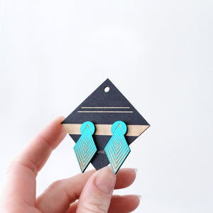 Turquoise Drop Arrow Stud