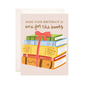 Birthday Books Greeting Card