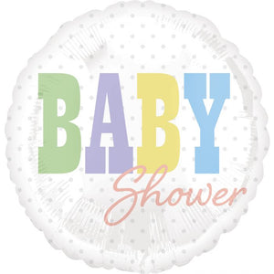 Baby Shower Colors Foil Balloon