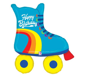 """Happy Birthday"" Roller Skate Foil Balloon"