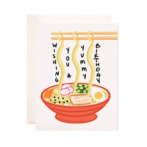 Birthday Noodles Greeting Card