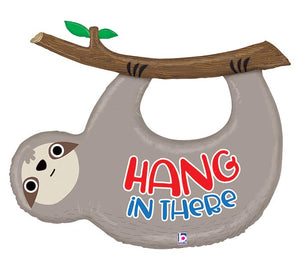 """Hang in There"" Sloth Balloon"