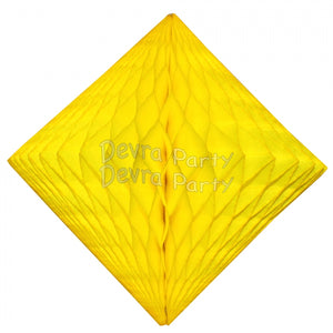 "Honeycomb Tissue Paper Decoration Diamond 12"" (Multiple Colors Available)"