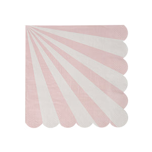 Dusty Pink Stripe Napkins (Small)