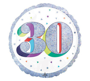 Glitter Confetti 30th Birthday Foil Balloon
