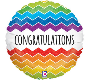 Chevron Congratulations Foil Balloon