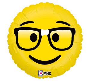 Emoji Glasses Nerd Foil Balloon