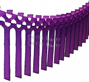 Streamer Tissue Paper Garland Decoration (Multiple Colors Available)