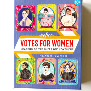 Votes for Women: Suffrage Leaders Flash Cards