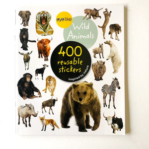 400 Reusable Wild Animal Stickers!