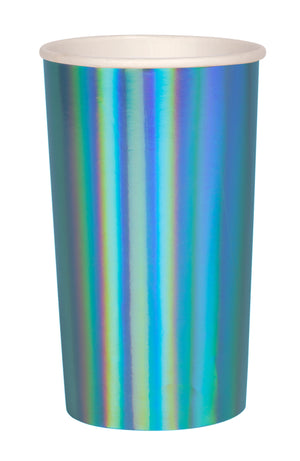 Blue Holographic Highball Cups