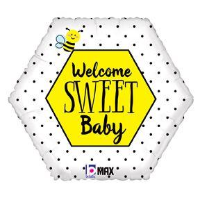 Welcome Sweet Baby Bee Foil Balloon