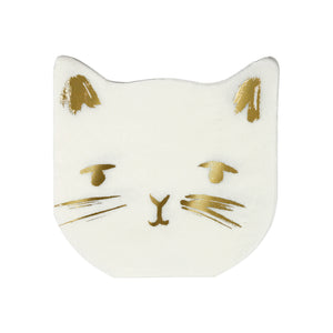 Gold Cat Napkins