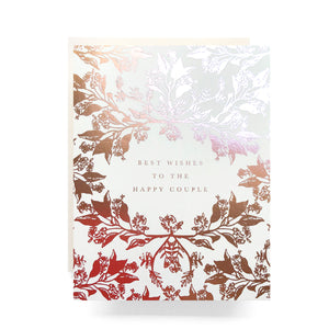Rose Gold Happy Couple Card