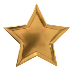 Gold Foil Star Plate