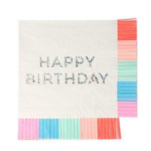 Birthday Fringe Napkins (Small)