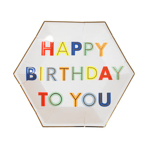Neon Happy Birthday to You Plates (Small)