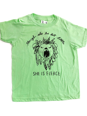 Though She Be But Little Lion Kids Tshirt