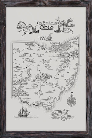 Realm of Ohio Letterpress Print