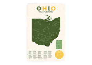 Ohio State Parks Checklist Art Print