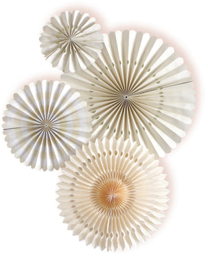 Ivory Party Fans - Small Pack