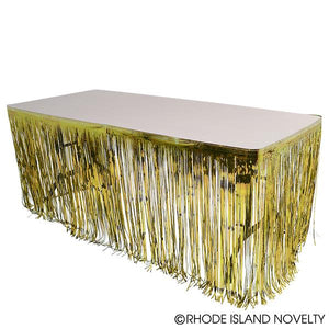 Metallic Table Skirt