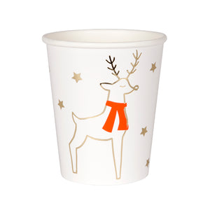 Reindeer and Stars Cups