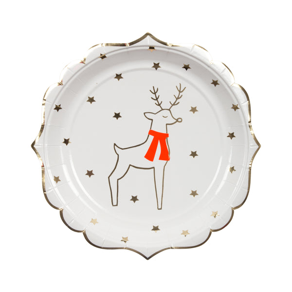 Reindeer and Stars Plate