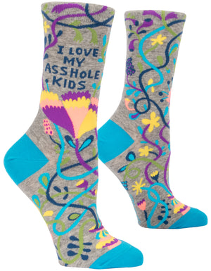I Love My Asshole Kids Womens Crew Sock