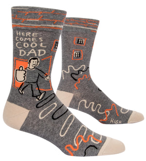 Here Comes Cool Dad Mens Sock