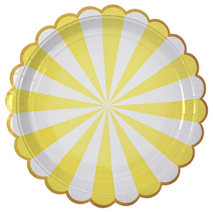 Yellow Stripe Plates (Large)