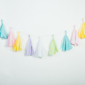 Unicorn Colors Tissue Tassel Banner