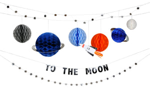 To The Moon Space Garland