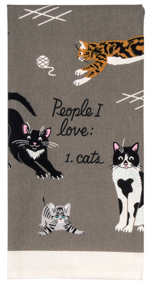 People I Love: Cats Screenprinted Dish Towel