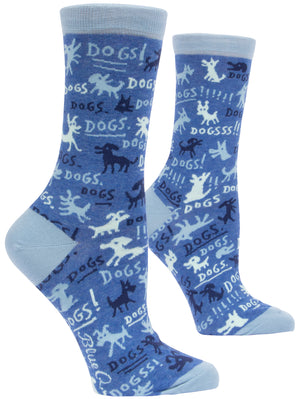 Dogs! Womens Crew Sock