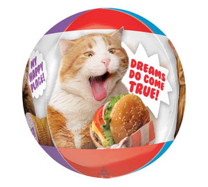 Cats With Snacks Balloon