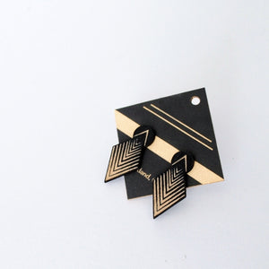 Black Drop Arrow Stud
