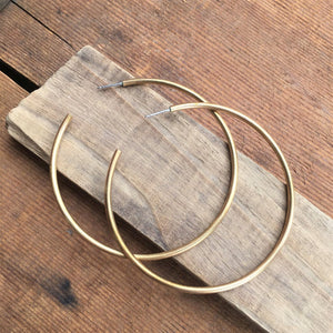 Huge Brass Hoops