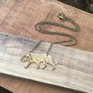 Brass Tiger Necklace