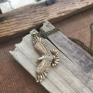 Brass Eagle Necklace