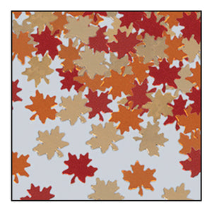 Autumn Leaves Metallic Confetti