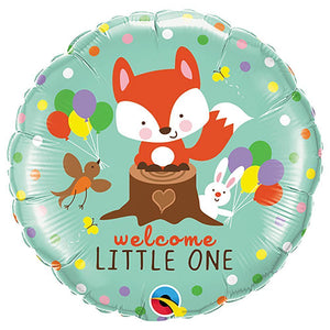 Welcome Little One Baby Fox & Friends Foil Balloon