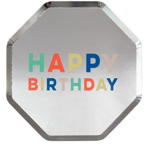 Happy Birthday Palette Dinner Plates