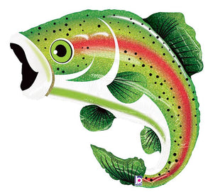 Rainbow Trout Foil Balloon