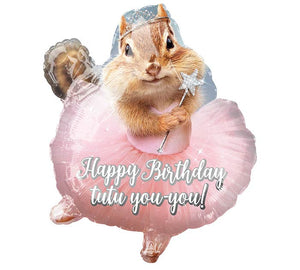 Chipmunk in a Tutu Foil Balloon