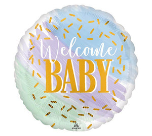 Welcome Baby Watercolor Foil Balloon