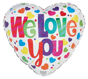 We Love You Heart Balloon