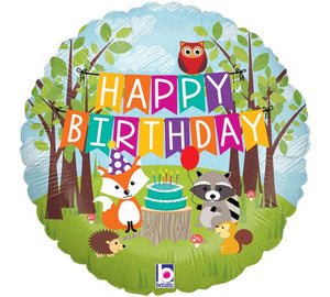 Woodland Friends Birthday Foil Balloon