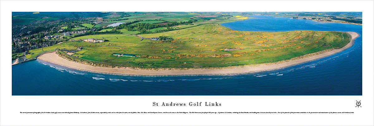 Golf St Andrews Links Inland Golf Aerial Panoramic Picture Ez