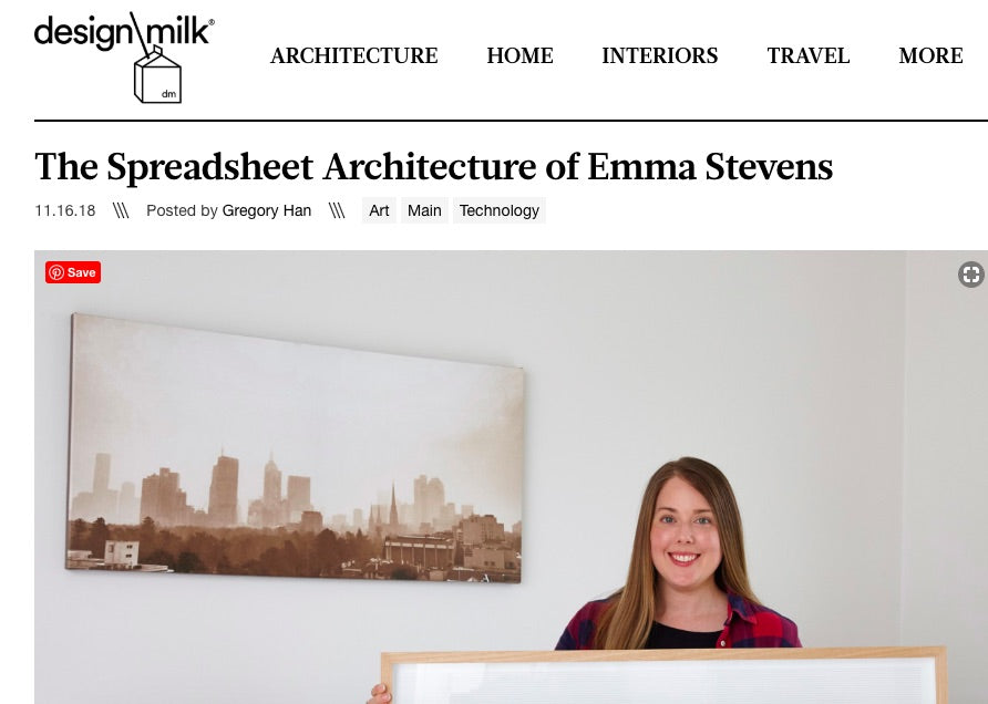 Design Milk Blog - Spreadsheet Skyline
